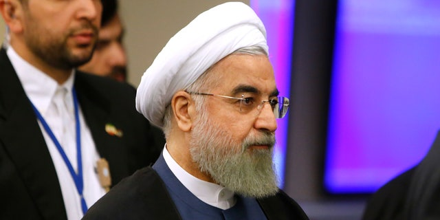 Sept. 28, 2015 - Iran's President Hassan Rouhani arrives for the 70th session of the UN General Assembly at U.N. headquarters.