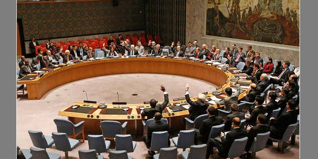 Dec. 24, 2013 - FILE photo of members of the United Nations Security Council at UN headquarters in New York.