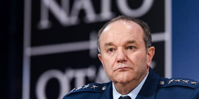 FILE - In this Jan. 22, 2015 file photo, Gen. Philip M. Breedlove attends a media conference at NATO headquarters in Brussels. The Obama administration is still struggling with whether to provide lethal, defensive weapons to Ukraine amid concerns that such a move might only escalate Russia's military campaign there, U.S. defense leaders told Congress Wednesday. Breedlove, the top NATO commander, told the House Armed Services Committee that he has laid out military options the administration could consider for Ukraine, ranging from sending small arms to more sophisticated weapons that would take longer to arrive and require extensive training. (AP Photo/Geert Vanden Wijngaert, File)