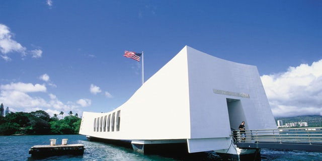 The USS Arizona Memorial in Oahu.