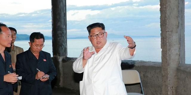 "Kim Jong Un often visits construction sites to provide ""field guidance."""