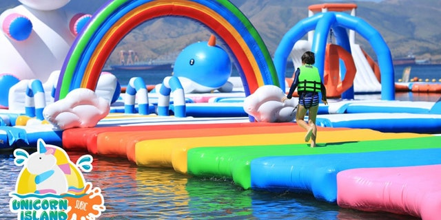 """The massive """"floating playground"""" is certainly one of a kind."""
