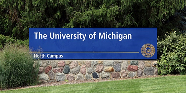 Ann Arbor, MI, USA - July 30, 2014: An entrance to The University of Michigan. The University of Michigan is a public research university located in Ann Arbor, Michigan.