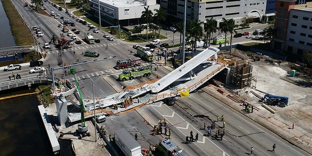 Dashcam footage posted online last week provides a new angle of the pedestrian bridge collapse at at Florida International University, which left six people dead.