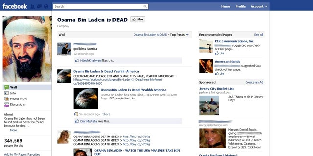 A Facebook page celebrating the death of Usama bin Laden quickly garnered nearly 350,000 fans -- and scammers quickly targeted the page as well.