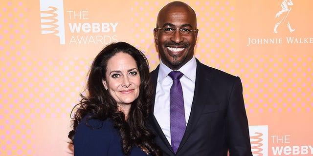 CNN's political commentator, Van Jones, and his wife.