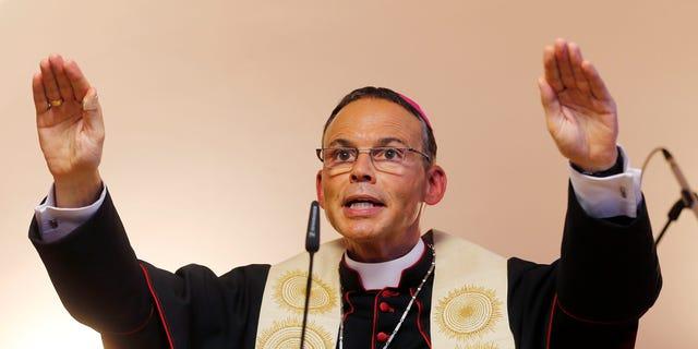 Bishop of Limburg Franz-Peter Tebartz-van Elst in Frankfurt, Germany, in Aug. 29, 2013.