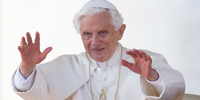 Oct. 24, 2012: Pope Benedict XVI blesses the faithful in St. Peter's Square at the Vatican for his weekly general audience. The Vatican spokesman on Thursday, Nov. 8, said that the 85-year-old Benedict will start tweeting from a personal Twitter account, perhaps before the end of the year.