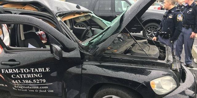 The driver was an employee of Braglio Farms in Woodstock, Maryland, owner Scott Braglio said.