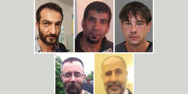 These photos, provided by the Toronto Police Service, show the five men McArthur is accused of killing, from left to right.