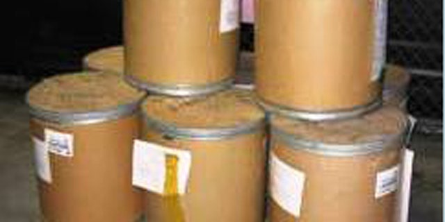 Eight drums of methylamine hydrochloride were discovered in August at an air cargo facility at Los Angeles International Airport.