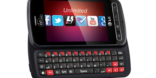 The LG Optimus Slider, a popular smartphone on the Virgin Mobile service.