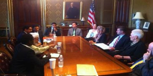 This image, apparently showing a June meeting at the White House, was posted on the website of Abdullah Bin Bayyah.