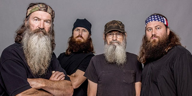 gardening Pictured from left, Phil Robertson, Jase Robertson, Si Robertson and Willie Robertson from the A&E series, 'Duck Dynasty.'