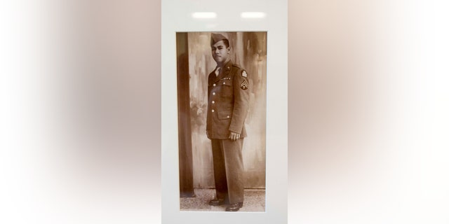 During his time in the the Army, John Edward James, Jr. served as a corporal, working as a typist with a quartermaster battalion supplying front-line combat units in North Africa and Italy for three years.