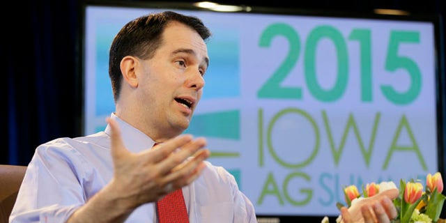 March 7, 2015: Wisconsin Gov. Scott Walker at the Iowa Agriculture Summit, Des Moines, Iowa.