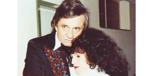 Wanda Jackson with Johnny Cash.