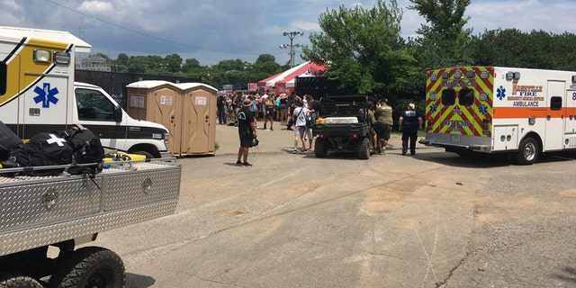 Concertgoers attending the Vans Warped Tour in Nashville, Tenn. on Tuesday are suffering from heat-related illnesses.