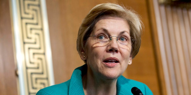 "Sen. Elizabeth Warren, D-Mass., was careful in addressing the speech controversy, but said it was ""troubling."""