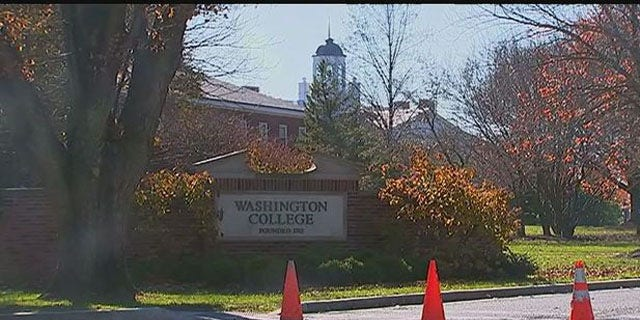 Nov. 16, 2015: This photo shows the campus of Washington College in Chestertown, Md. The school is closed until Nov. 29 amid an ongoing search for a missing student who is believed to have retrieved a gun from his home outside Philadelphia. (WTTG)