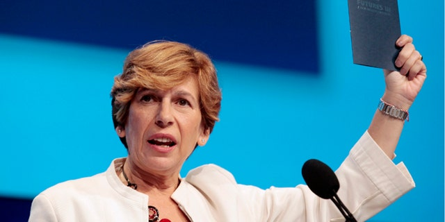July 28, 2012: Randi Weingarten, president of the American Federation of Teachers, speaks at a convention in Detroit, Michigan. (Reuters)
