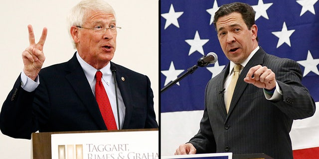 State Sen. Chris McDaniel, right, was competing against incumbent Sen. Roger Wicker, R-Miss., in the state's June 5 primary. Now, McDaniel will compete for the seat left vacant by Sen. Thad Cochran, R-Miss., who resigned last week.