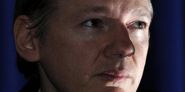Oct. 23: WikiLeaks founder Julian Assange speaks during a news conference in London.