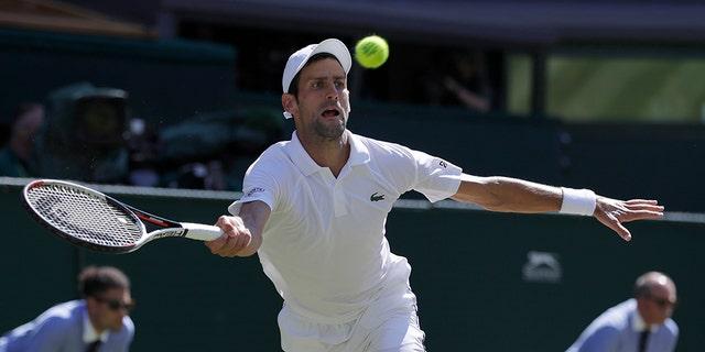 Serbia's Novak Djokovic won his fourth Wimbledon title on Sunday.