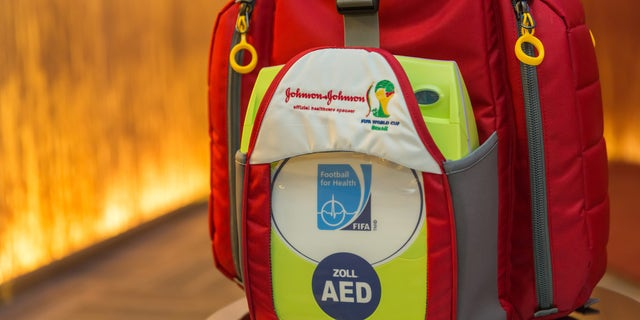 This emergency medical bag will now be required on the sidelines of every FIFA World Cup match. (Photo courtesy of Johnson & Johnson)