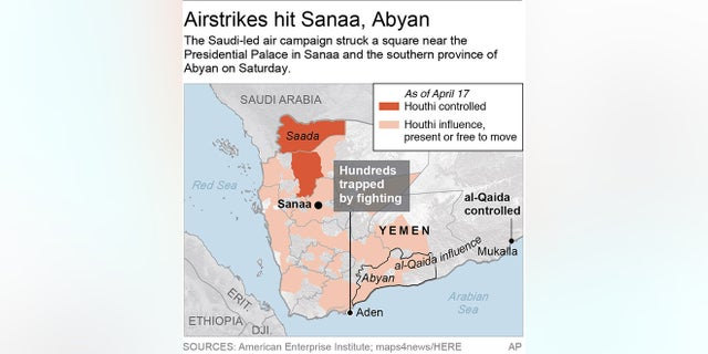 Map locates Aden, Yemen; 2c x 3 1/4 inches; 96.3 mm x 82 mm;