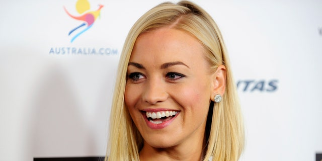 Australian actress Yvonne Strahovski arrives during the G'Day USA Black Tie Gala in Los Angeles, California, January 11, 2014.