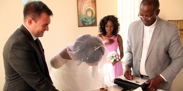 The couple got married days after the crocodile attack.