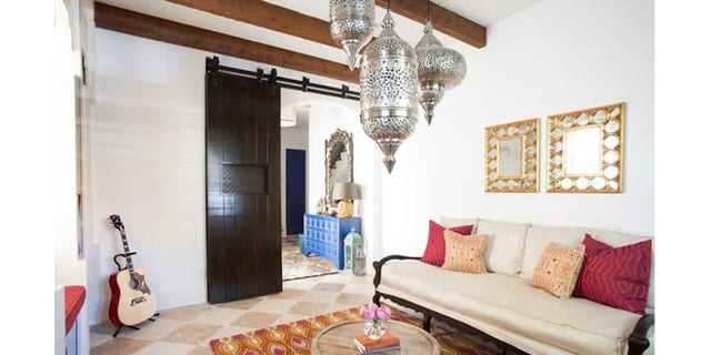 Moroccan office designed by Laura Umansky.