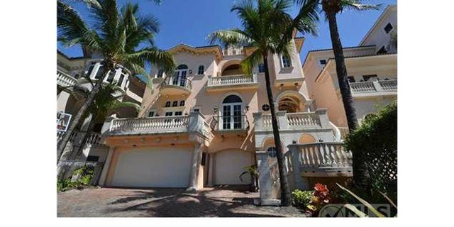 Exterior of Ray Lewis' Florida home.