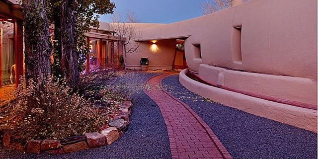 Exterior of Frank Lloyd Wright's pottery house in New Mexico, which is for sale for $4.75 million.