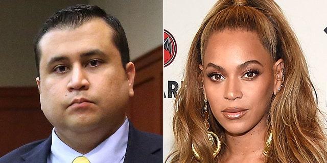 George Zimmerman has been accused of sending texts threatening Beyoncé.