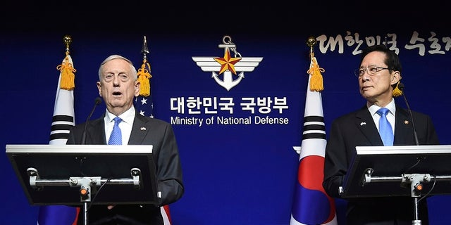 Jim Mattis made the remarks during his visit to South Korea.