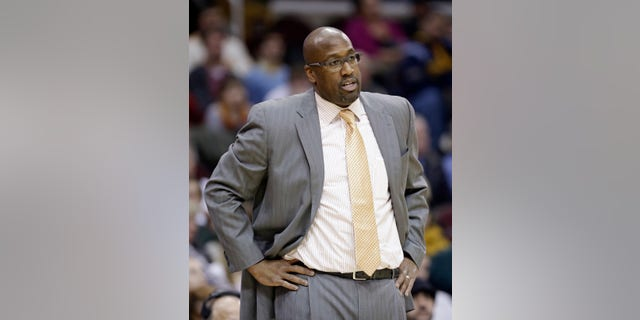Cleveland Cavaliers head coach Mike Brown watches during the third quarter of an NBA basketball game against the New Orleans Pelicans, Tuesday, Jan. 28, 2014, in Cleveland. New Orleans defeated Cleveland 100-89. (AP Photo/Tony Dejak)