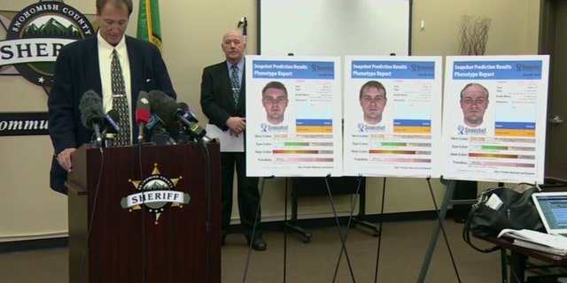 Authorities in Snohomish County, Wash., release sketches of a suspect in the 1987 killings of a Canadian couple.