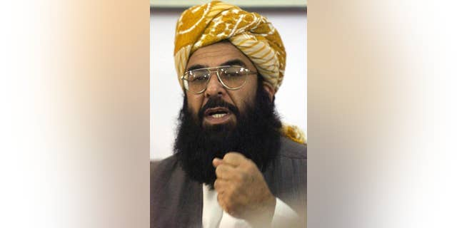 FILE - In this Jan. 24, 2003 file photo, Pakistan's Islamic cleric Ghafoor Haideri, addresses a news conference in Quetta, Pakistan. The chairman of Pakistan's senate says the body will not welcome any U.S. delegation, member of Congress or dignitary in Islamabad. The move comes after the U.S. failed to issue a visa to Ghafoor Haideri, the senate's deputy chairman, a member of the right-wing Jamiat Ulema-e-Islam political party. (AP Photo/B.K. Bangash, FILE)