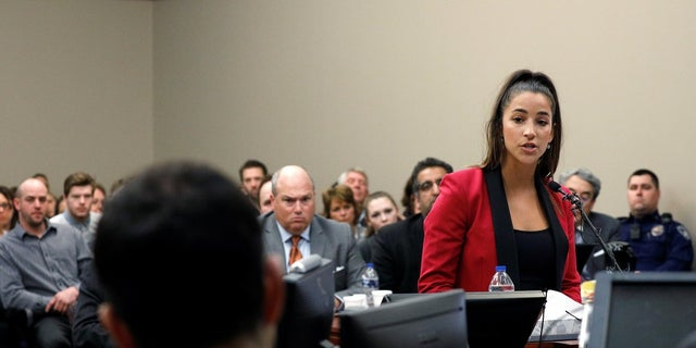 Aly Raisman faced Larry Nassar in court.