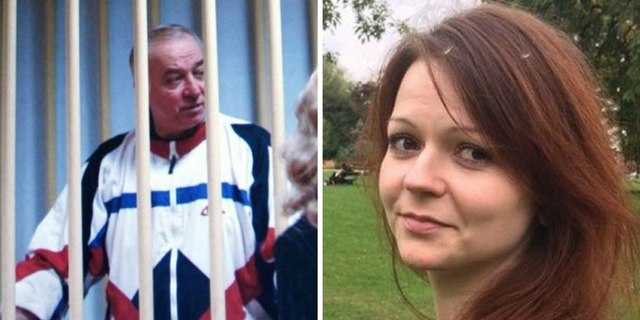 Sergei Skripal, left, and his daughter, Yulia, right, remain hospitalized in critical condition and are believed to have a slim chance of survival after being found unconcious on a shopping mall bench March 4 in the English city of Salisbury.