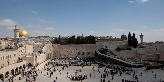 FILE: The Dome of the Rock, the Western Wall and the Mughrabi Gate entrance to the compound known to Muslims as al-Haram al-Sharif, and to Jews as Temple Mount, are seen in Jerusalem's Old City.
