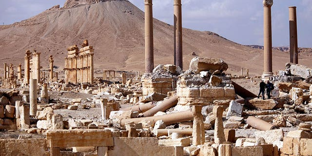 File photo - Laid to waste: Palmyra after ISIS onslaught.