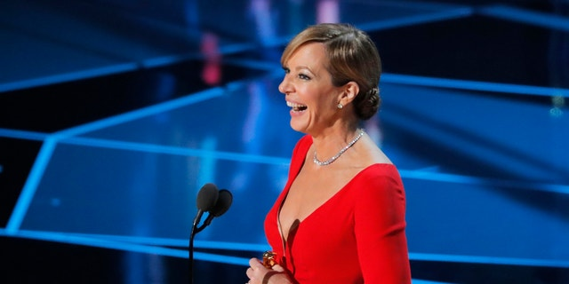 """""""I did it all by myself,"""" Janney joked before launching into her speech, in which she thanked a bird."""