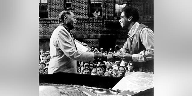 Duke Ellington and Billy Taylor (right) in the early 1970s. (AP)