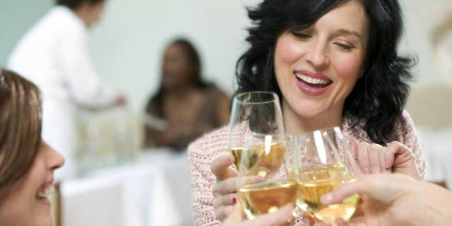 """That extra glass of wine can be relaxing after the 9-5 grind, but like with anything else, you don't want to overdo it. """"Heavy drinking shows up as permanently dilated capillaries in the skin,"""" says Hausenblas. """"That's never a pretty sight, so drink less and maintain healthy skin quality longer."""""""