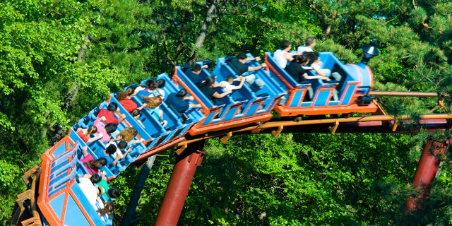 Roller coaster in Six Flags