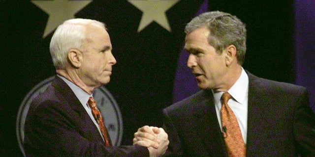 McCain would eventually endorse George W. Bush for the Republican presidential nominee. Bush would win the presidency.