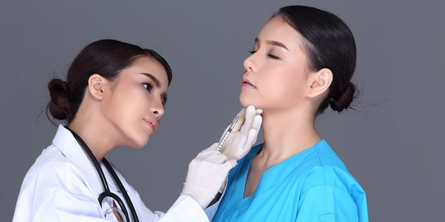 With Kybella, a healthcare provider will make multiple small injections under the chin in order to treat the excess fat.